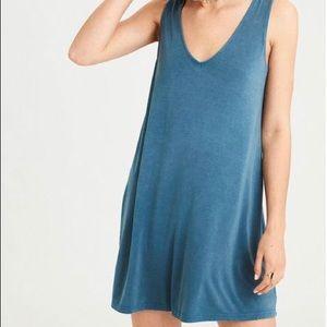 AMERICAN EAGLE Women's Knit Double V Dress - Teal